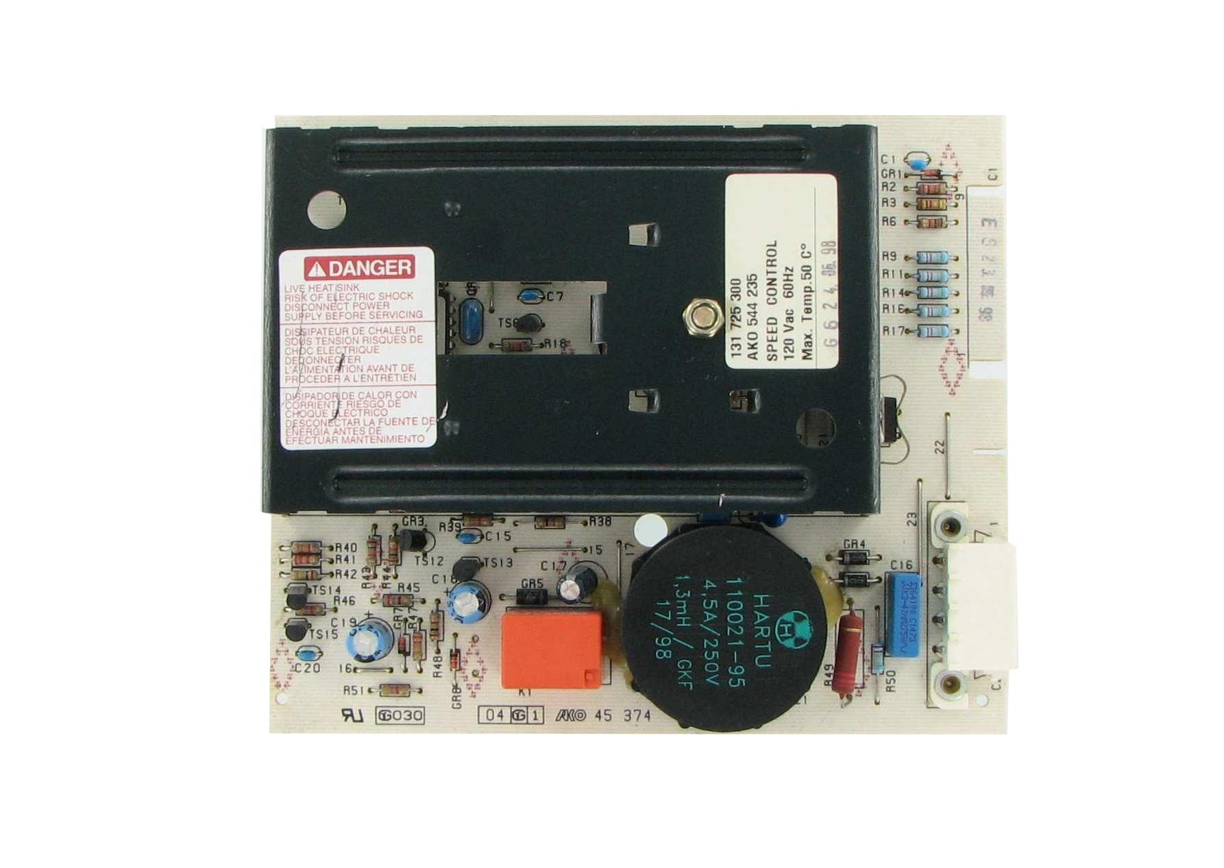 Frigidaire 131789600 laundry washer motor speed control board for Frigidaire motor control board
